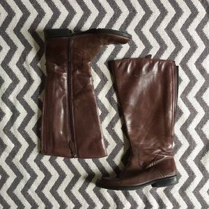 Franco Sarto Leather Riding Boots Size 8